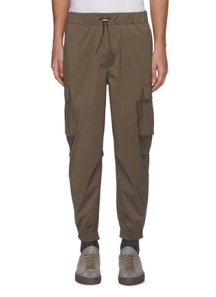 Main View - Click To Enlarge - EQUIL - Drawcord Waist Cargo Pocket Crop Sweatpants