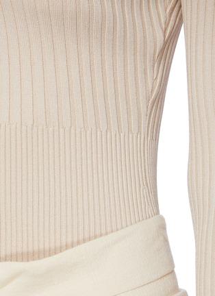 - JONATHAN SIMKHAI - Scoop Neck Long Sleeve Top
