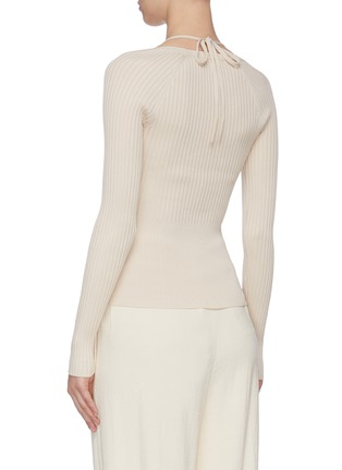 Back View - Click To Enlarge - JONATHAN SIMKHAI - Scoop Neck Long Sleeve Top