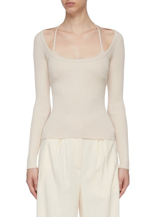 Main View - Click To Enlarge - JONATHAN SIMKHAI - Scoop Neck Long Sleeve Top