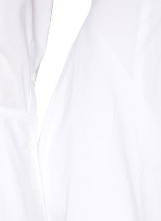 - JONATHAN SIMKHAI - Alex' Cut Out Waist Midi Shirt Dress