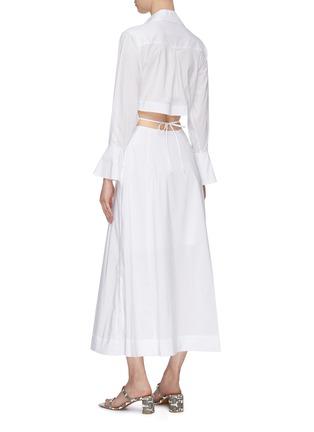 Back View - Click To Enlarge - JONATHAN SIMKHAI - Alex' Cut Out Waist Midi Shirt Dress