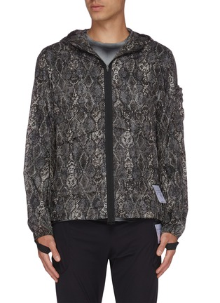 Main View - Click To Enlarge - SATISFY - Python print packable windbreaker