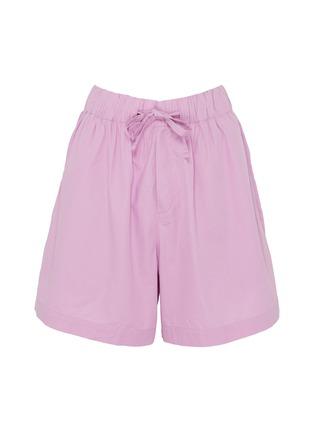 Main View - Click To Enlarge - TEKLA - Unisex Organic Cotton Poplin Small Pyjama Shorts – Purple Pink