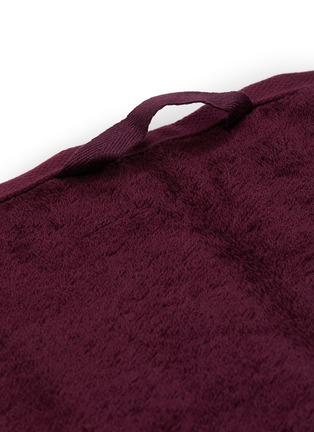 Detail View - Click To Enlarge - TEKLA - Organic Cotton Guest Towel – Plum Red
