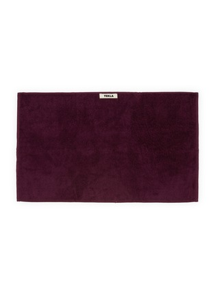 Main View - Click To Enlarge - TEKLA - Organic Cotton Guest Towel – Plum Red