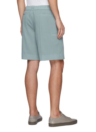 Back View - Click To Enlarge - EQUIL - Drawcord waist side pocket wool shorts