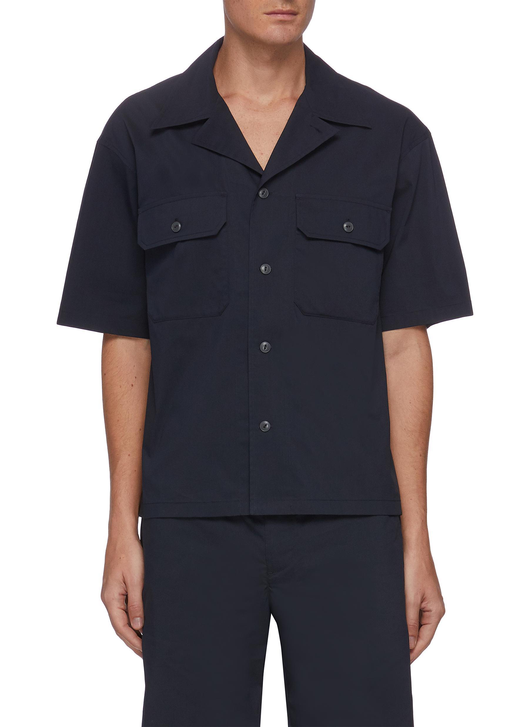 Chest patch pocket short sleeve shirt