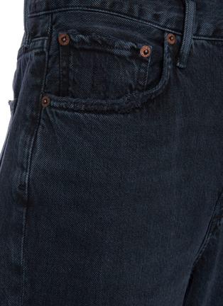 - AGOLDE - 'Riley' Distressed Knee Fray Edge Crop Denim Jeans