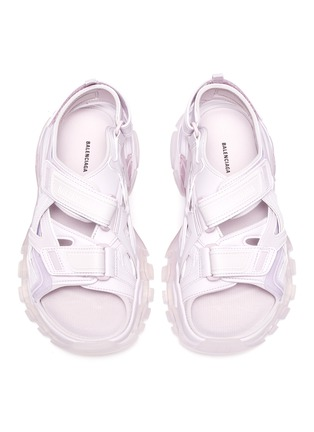 Detail View - Click To Enlarge - BALENCIAGA - Logo embossed velcro trap track sandals