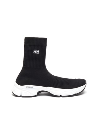 Main View - Click To Enlarge - BALENCIAGA - 'Speed 3.0' Knit Textile High Top Sneakers