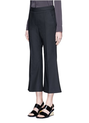 Front View - Click To Enlarge - Ellery - 'Bulgaria' cady cropped flare pants