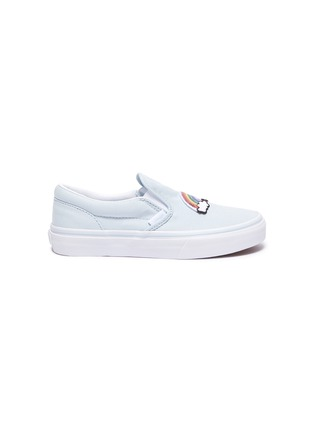 Main View - Click To Enlarge - VANS - Rainbow patch kids canvas slip-on shoes