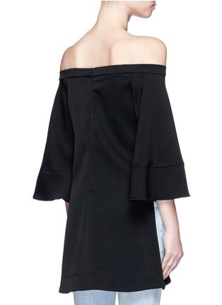 Back View - Click To Enlarge - ELLERY - 'Elize' off-shoulder bell sleeve satin crepe top