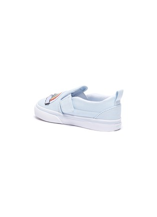 Detail View - Click To Enlarge - VANS - Rainbow patch toddler canvas slip-on shoes