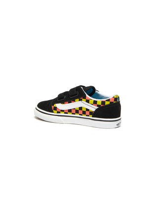 Detail View - Click To Enlarge - VANS - 'Old Skool' Checker Print Double Velcro Strap Toddler Sneakers