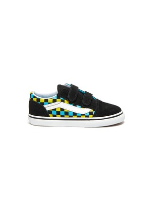 Main View - Click To Enlarge - VANS - 'Old Skool' Checker Print Double Velcro Strap Toddler Sneakers