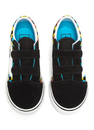 Figure View - Click To Enlarge - VANS - 'Old Skool' Checker Print Double Velcro Strap Toddler Sneakers