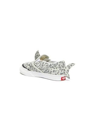 Detail View - Click To Enlarge - VANS - Fin Detail Leopard Print Shark Slip-on Sneakers