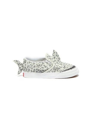 Main View - Click To Enlarge - VANS - Fin Detail Leopard Print Shark Slip-on Sneakers