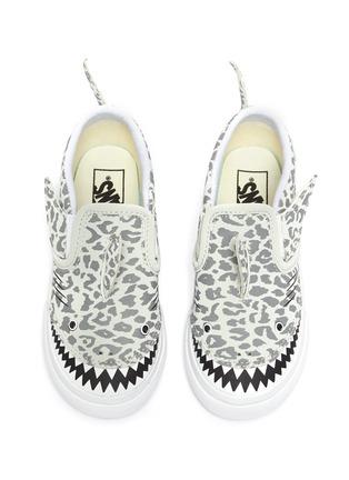 Figure View - Click To Enlarge - VANS - Fin Detail Leopard Print Shark Slip-on Sneakers