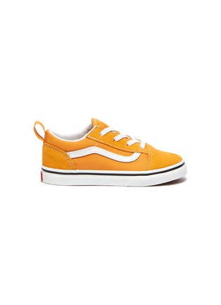 Main View - Click To Enlarge - VANS - 'Old Skool' Low Top Elastic Lace Toddler Sneakers