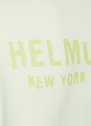 - HELMUT LANG - Back Logo Print Strap Detail Cotton Hoodie