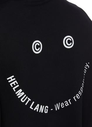 - HELMUT LANG - Slogan Print Cotton Hoodie
