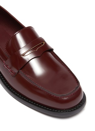 Detail View - Click To Enlarge - PEDDER RED - 'Bay' patent leather loafers