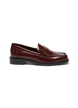 Main View - Click To Enlarge - PEDDER RED - 'Bay' patent leather loafers