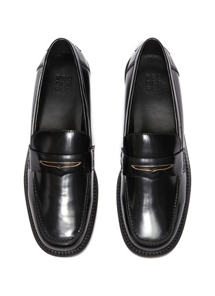 Detail View - Click To Enlarge - PEDDER RED - Bay' patent leather loafers