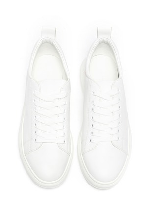 Detail View - Click To Enlarge - PEDDER RED - 'Megan' contrast tab leather sneakers