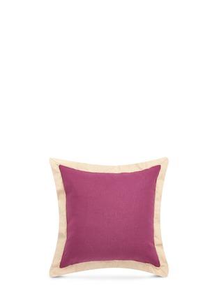 Main View - Click To Enlarge - Etro - Zanzibar Aden flounce linen cushion