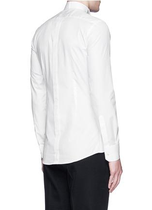 Back View - Click To Enlarge - Dolce & Gabbana - 'Gold' wingtip collar pleat bib tuxedo shirt