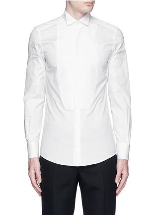 Main View - Click To Enlarge - Dolce & Gabbana - 'Gold' wingtip collar pleat bib tuxedo shirt