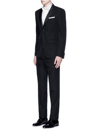 Figure View - Click To Enlarge - Dolce & Gabbana - 'Gold' wingtip collar pleat bib tuxedo shirt