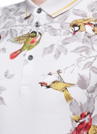 Detail View - Click To Enlarge - Dolce & Gabbana - Bird print polo shirt