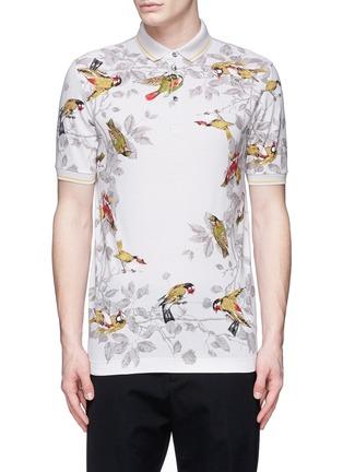 Main View - Click To Enlarge - Dolce & Gabbana - Bird print polo shirt