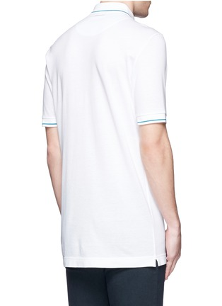 Back View - Click To Enlarge - Dolce & Gabbana - Bird patch embroidery polo shirt