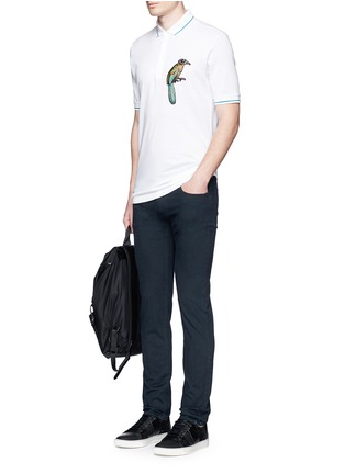 Figure View - Click To Enlarge - Dolce & Gabbana - Bird patch embroidery polo shirt