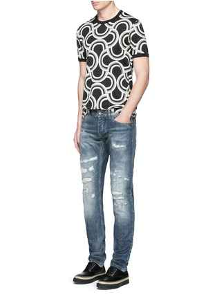 Figure View - Click To Enlarge - Dolce & Gabbana - Spiral print cotton T-shirt