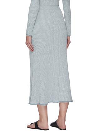 Back View - Click To Enlarge - THEORY - 'Mouline' rib-knit midi skirt