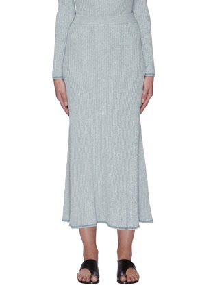 Main View - Click To Enlarge - THEORY - 'Mouline' rib-knit midi skirt