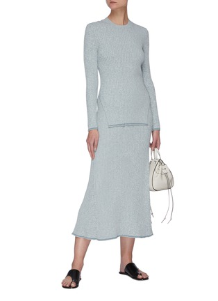 Figure View - Click To Enlarge - THEORY - 'Mouline' rib-knit midi skirt