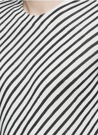 Detail View - Click To Enlarge - - - Diagonal stripe silk sweater
