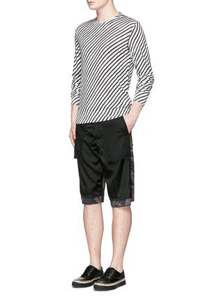 Figure View - Click To Enlarge - - - Diagonal stripe silk sweater