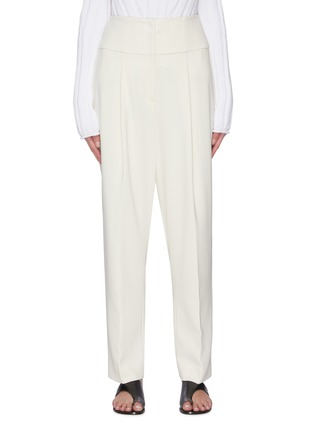 Main View - Click To Enlarge - THEORY - Carrot' Front Pleat Suiting Pants