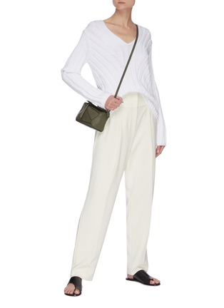 Figure View - Click To Enlarge - THEORY - Carrot' Front Pleat Suiting Pants