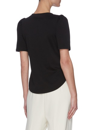 Back View - Click To Enlarge - THEORY - 'Clinton' ruched sleeve knit T-shirt