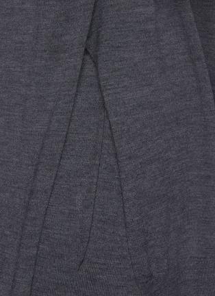 - THEORY - 'Empire' side slit wool hoodie